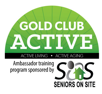 Gold Club Active sponsored by Seniors on Site Logo